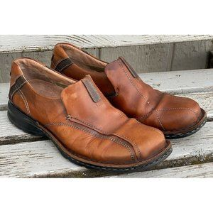 CLARKS Escalade Brown Leather Loafer Slip On Shoes